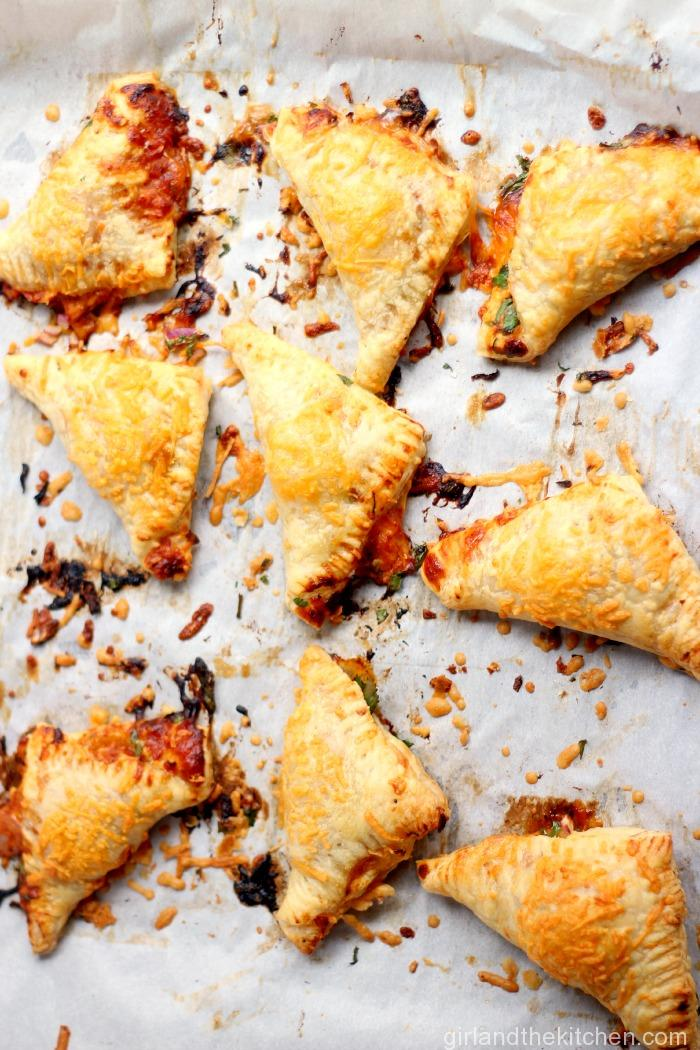 BBQ Chicken Pizza Turnovers from the Girl and the Kitchen