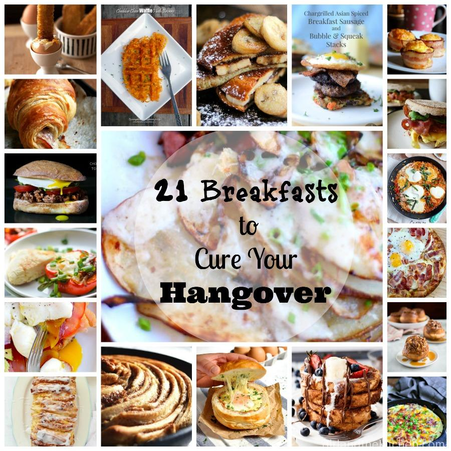 A compilation, of sweet, cheesy and savory breakfast to cure all your hangover woes.