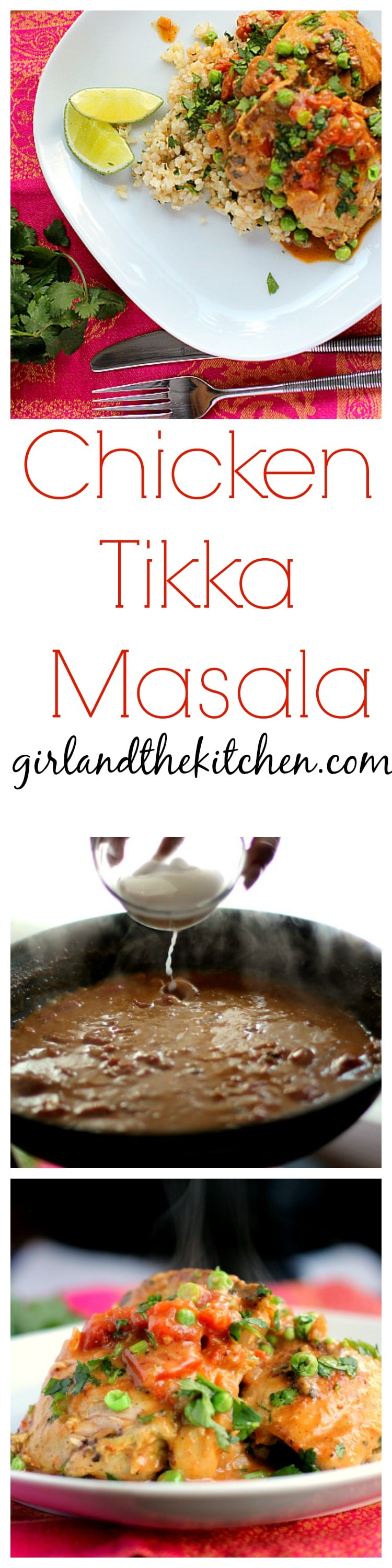 My chicken tikka masala recipe is a mush for when you want a new spin on the classic weeknight chicken.  A super simple and delicious dish full of Indian spices and flavors!  This is a must when you want to amp up the classic chicken dish!