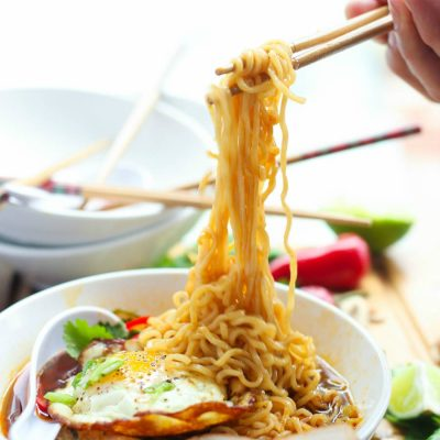 An easy ramen soup recipe filled with chewy noodles and loaded with authentic umami flavors.