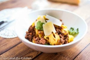 Red Wine Beef Ragu with Homemade Fettuccine…Plus A Day in the Life of a Blogger
