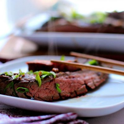 My Asian Style Grilled and Marinated Flank Steak is full of flavor, texture and that mmmmmm savory umami balance on your palate that makes you beg for more and more.