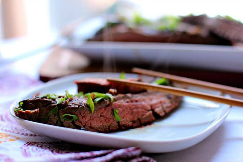 Asian Style Grilled and Marinated Flank Steak