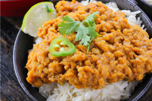 Saucy Coconut Lentils…A One Pot Meal