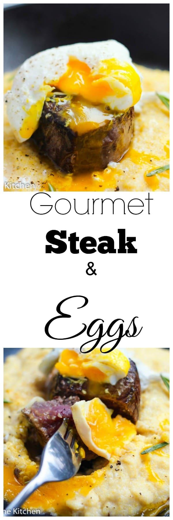 A perfect and elegant breakfast or brunch idea that amps up the classic steak and eggs. Runny poached eggs served with filet mignon is how brunch is done in our house. Sometimes:)