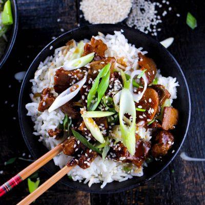 """PF Chang's Vegan Mongolian """"Beef"""""""