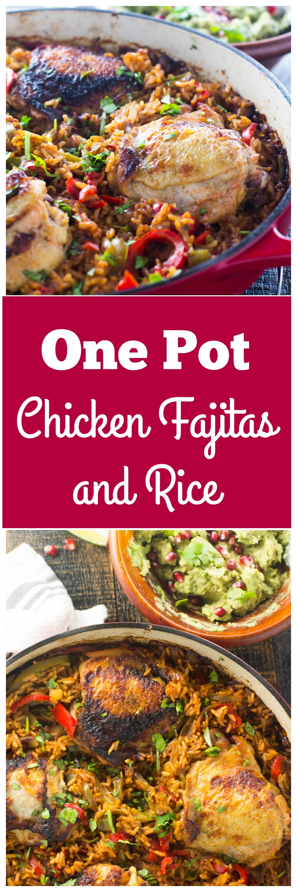 My One Pot Chicken Fajitas and Rice is full of garlic, onions, peppers and a sweet secret ingredient that just makes these irresistible!