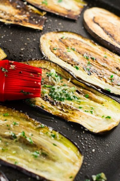 Healthy Pan Fried Baby Eggplant with Gremolata