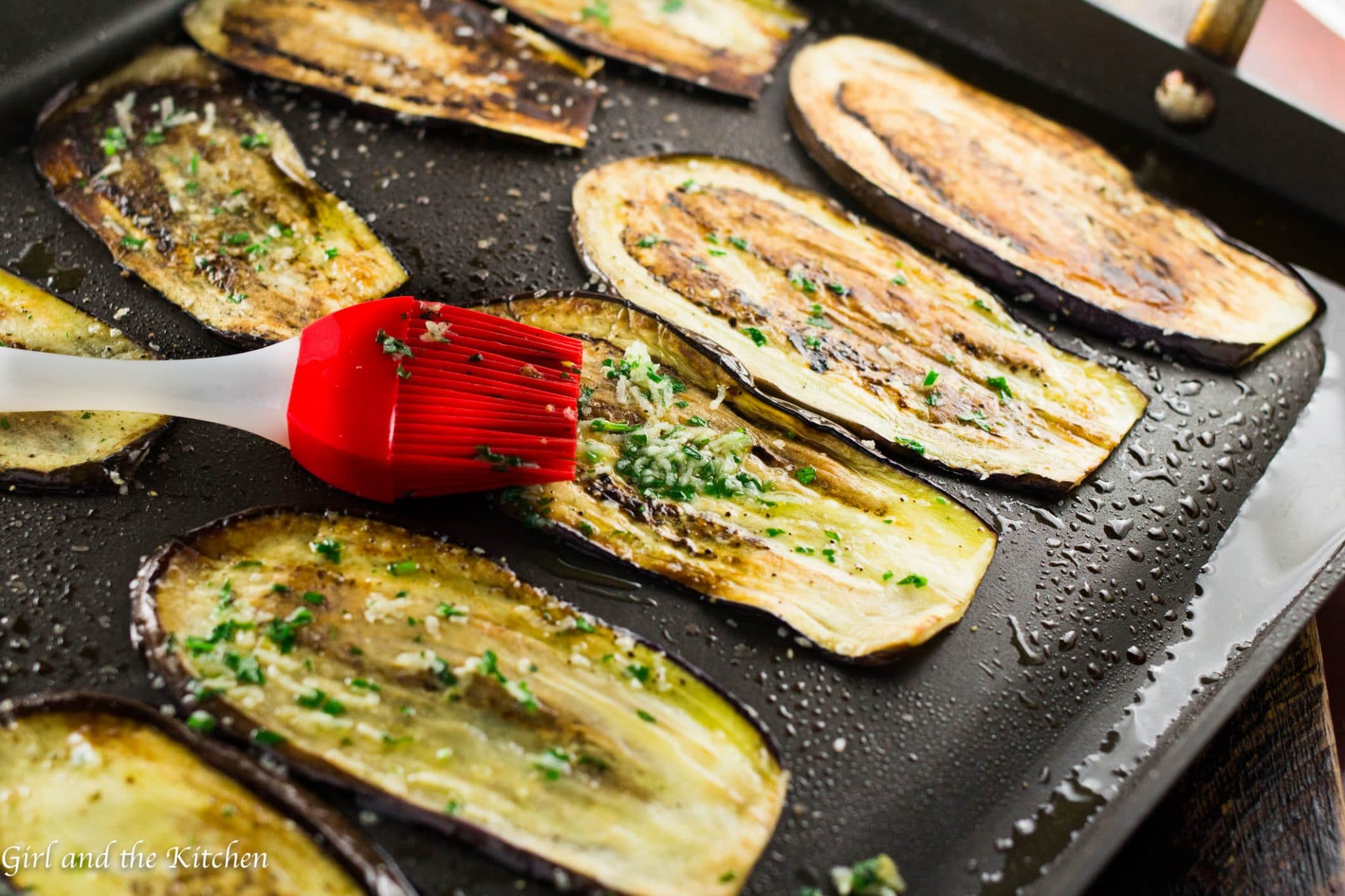 Healthy Pan Fried Baby Eggplant with Gremolata - Girl and the Kitchen