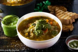 Provencal Vegetable Soup with Pistou