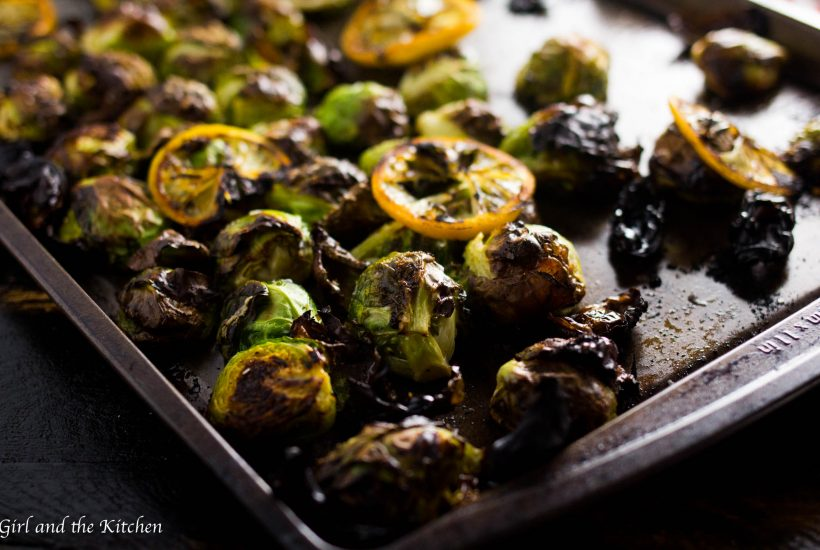 Easy Restaurant Style Crispy Brussel Sprouts - Girl and the Kitchen