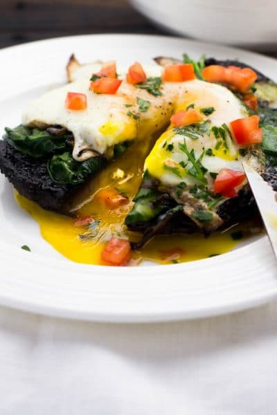 One Pan Stuffed Portobello Mushrooms