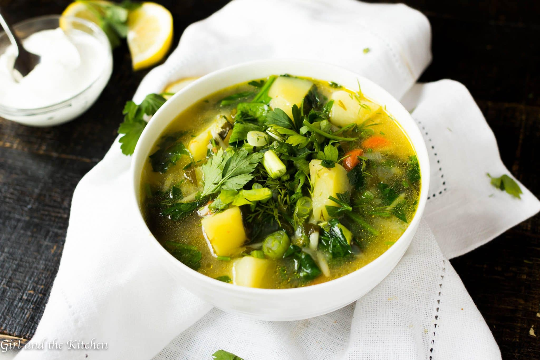 A hearty Russian style chicken soup loaded with tons of fresh herbs and veggies! Perfect for the spring time when all the fresh greens start popping up and we still need some warm comforting soup.