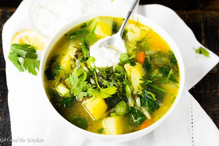 Russian Green Chicken Soup…Зеленый борщ