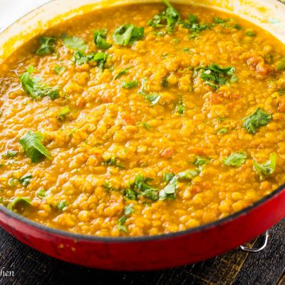Golden Yellow Lentil Dal with Curry