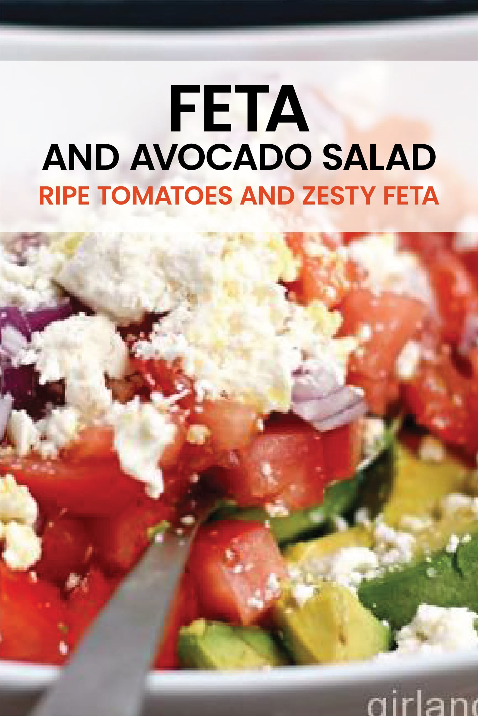 Meet your new best friend for the summer! This super easy feta and avocado salad is full of ripe tomatoes and zesty feta. #feta #salad