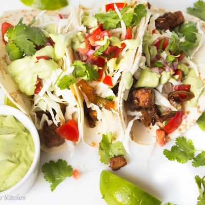 Vegetarian Tacos with Avocado Crema