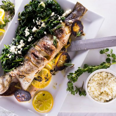 Greek Whole Roasted Branzino