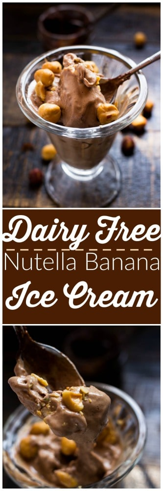 This super creamy Nutella and banana ice cream is actually healthy! And with only two ingredients and just a bit of prep this dessert is yours! Go ahead have a scoop or four, it's practically guilt free!!!
