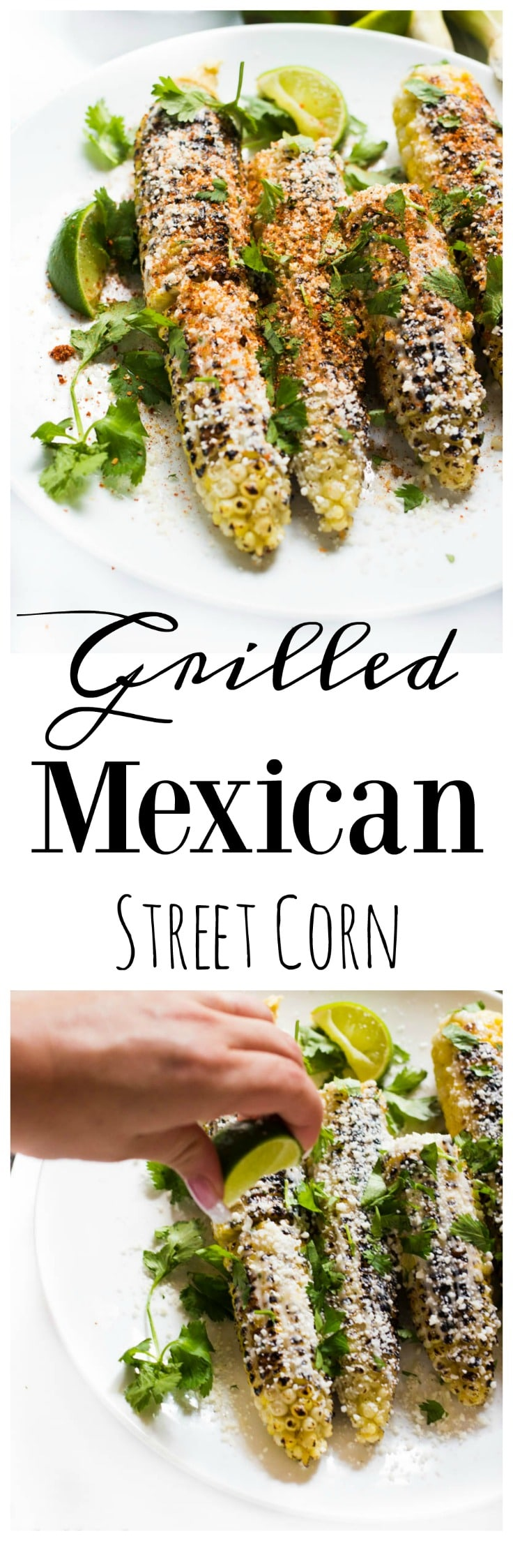 Grilled Mexican Street Corn (collage)