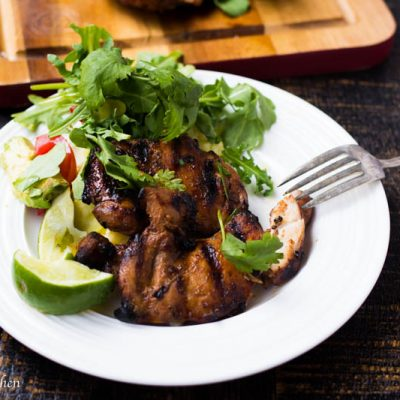 Serrano Soy Juicy Grilled Chicken Thighs