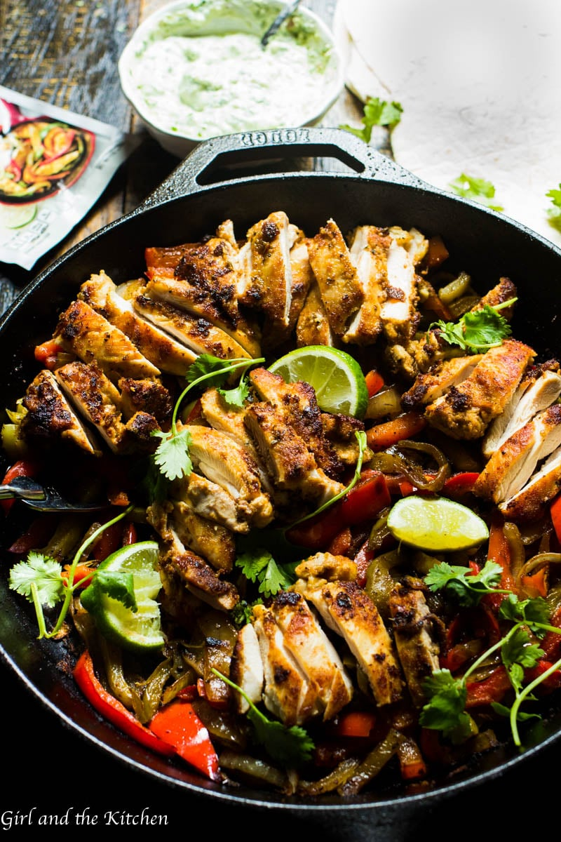 These one pot chicken fajitas are an incredibly simple one pan meal perfect for those nights when a delicious dinner has to come together quickly and effortlessly. A simple spice mix and a light yet creamy sauce turn these fajitas from ordinary to extraordinary!