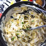 A ridiculously creamy and luscious sauce that is loaded with garlic and silkiness. This dairy free fettucini alfredo are what all vegan dreams are made of.