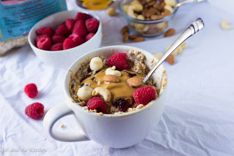 Breakfast will never be forgotten again with these Peanut Butter and Jelly Overnight Oats! Full of fiber, protein and pure deliciousness, this is one breakfast that the whole family will enjoy.