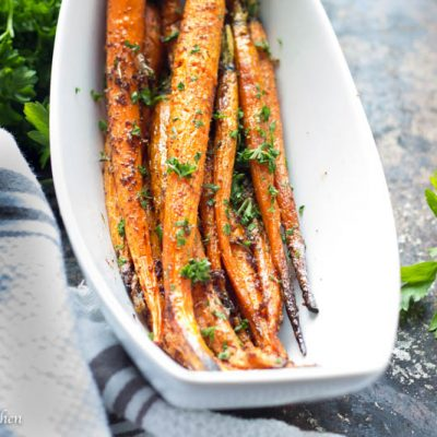 Garlic Brown Butter Roasted Carrots