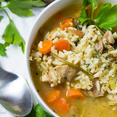 Leftover Turkey and Rice Soup (30 Minute Meal)