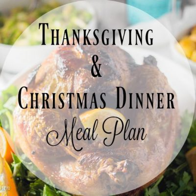 Thanksgiving/Christmas Dinner Plan Extravaganza