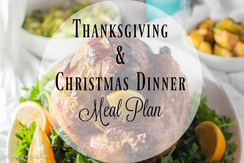 This is it! Here is your Thanksgiving and Christmas Dinner plan! One glorious turkey, 8 incredible side dishes and even an incredible no bake dessert! With my genius plan you will spend less time in the kitchen and more time out with your guests! Happy holidays everyone!
