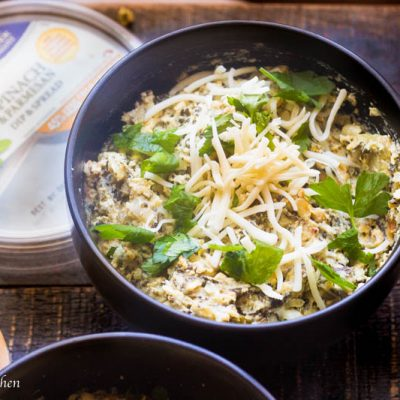 Mess Free Crock Pot Spinach and Artichoke Dip (One Pot 2 Dips)