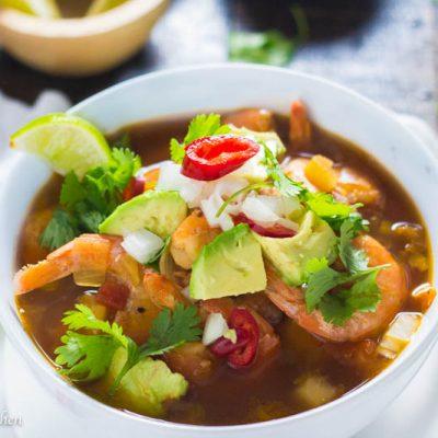 Mexican Shrimp Soup (Caldo de Camarones)