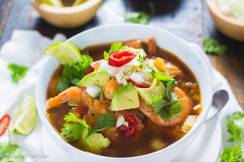Mexican Shrimp Soup Caldo De Camarones Girl And The Kitchen