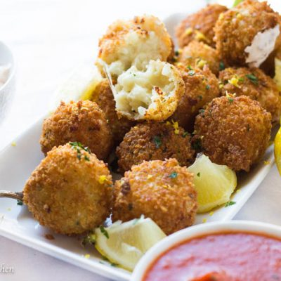 Cheesy Arancini…Italian Rice Balls