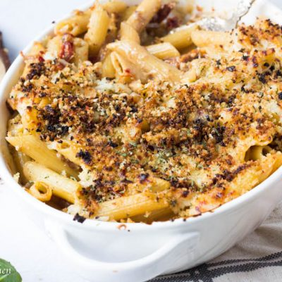 Creamy Parmesan and Sun-dried Tomato Pasta Bake