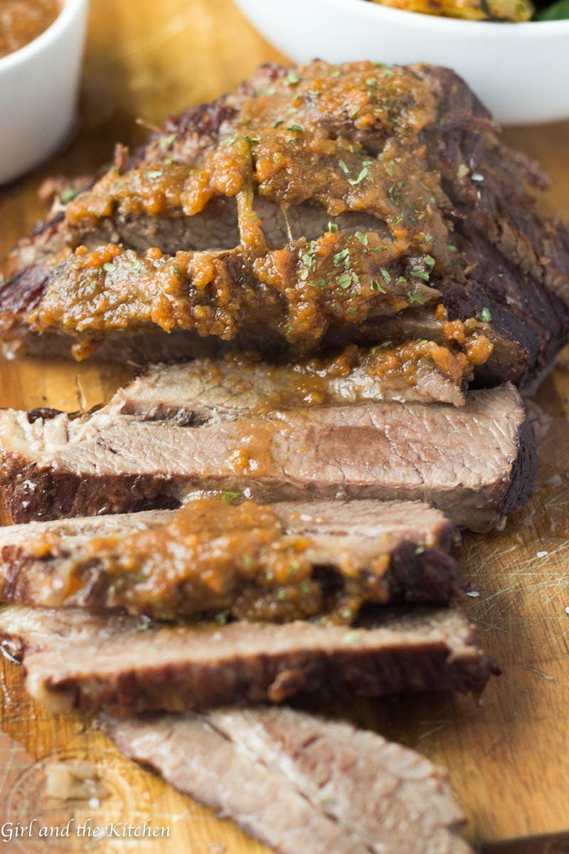 Meet your new weeknight dinner best friend! This Instapot brisket is done in one hour, including a heavenly sauce loaded with savory flavors! Forget the 6 hours of cooking time and enjoy a tender and juicy brisket on any weeknight!