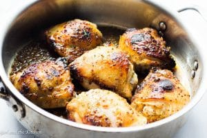 Baked Honey Mustard Chicken Thighs