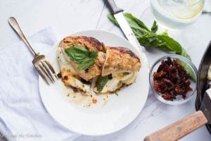 Easy Caprese Stuffed Chicken Breast