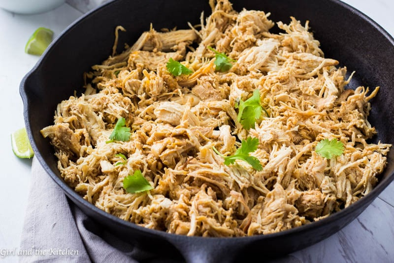 My Instant Pot Shredded Chicken is loaded with Mexican flavors and is the easiest and the most tender shredded chicken you will ever taste! Made in an Instant Pot in minutes and ready to be used in anything from enchiladas, tacos, soups, quesadillas, salads or any other creation you may come up with.