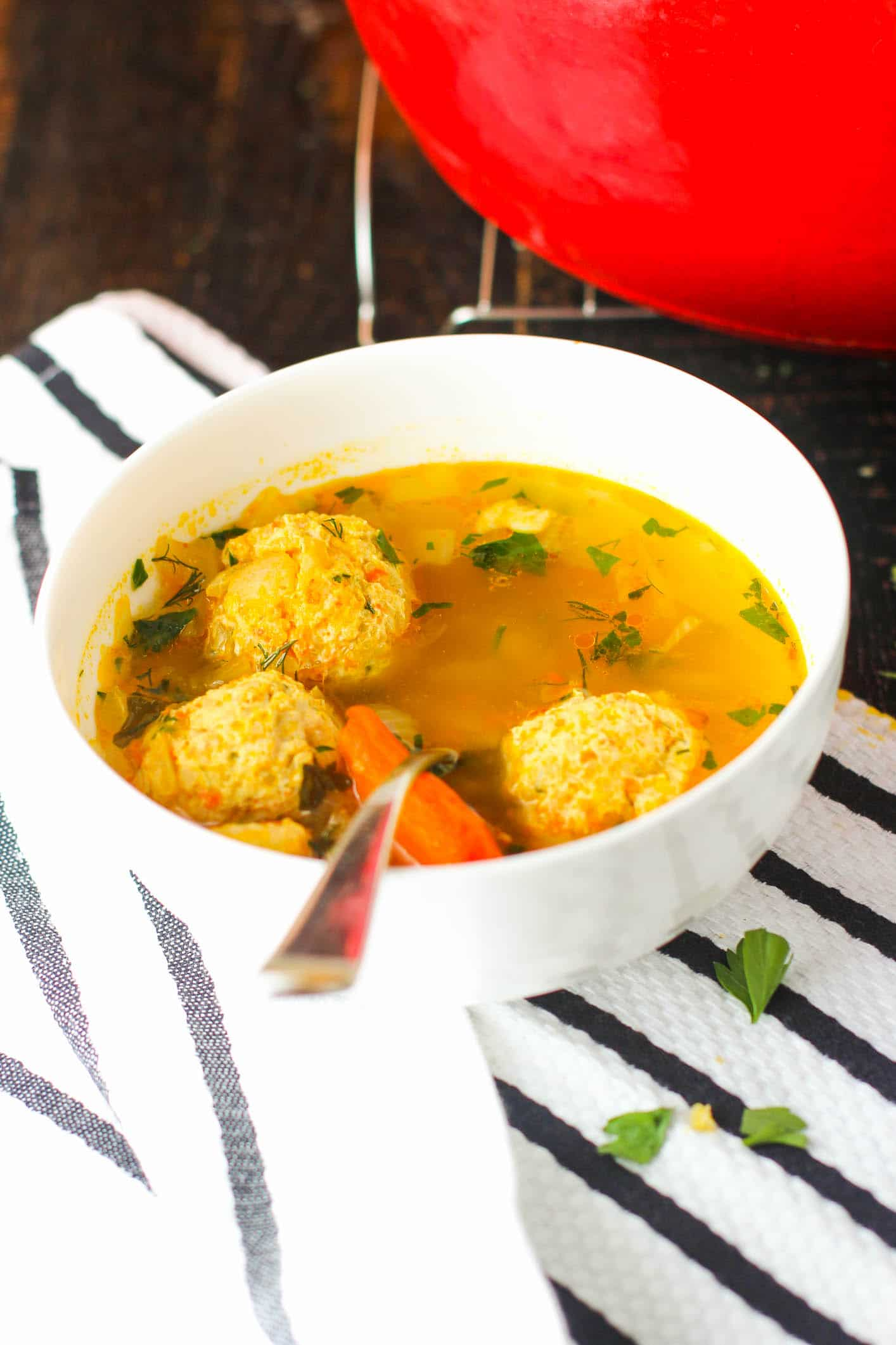 My Russian Meatball Soup Is Loaded With Beautiful And Tender Chicken Meat Floating In A Warm
