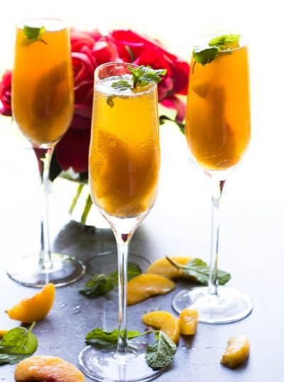 Sparkling Bellini Mocktail