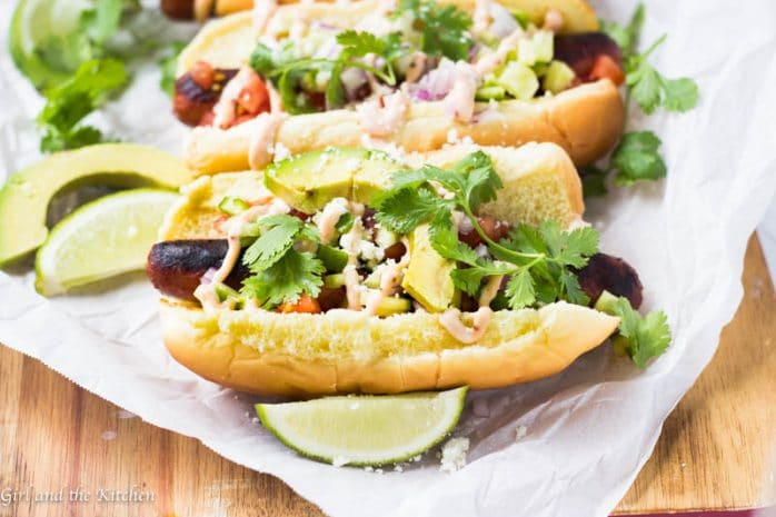 Baja Style Mexican Hot Dogs