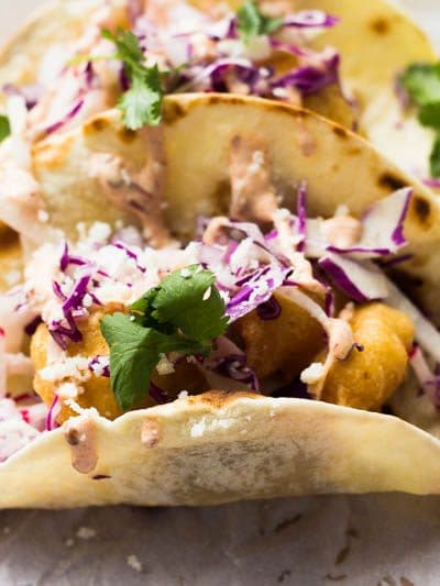 Beer Battered Crispy Fish Tacos