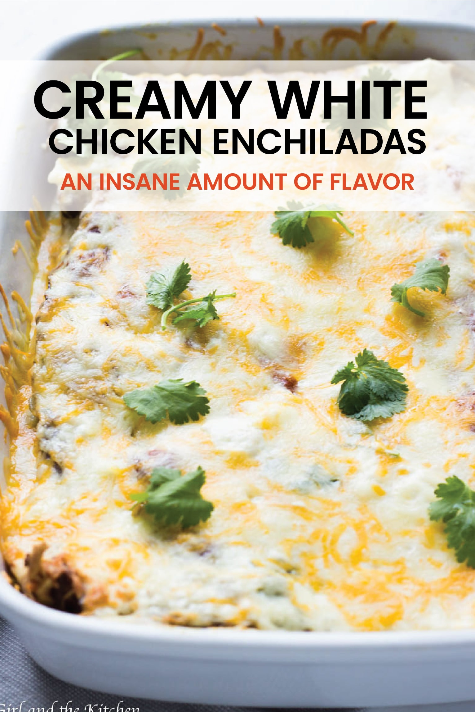These Creamy White Chicken Enchiladas are beyond simple to make but boast an insane amount of flavor!