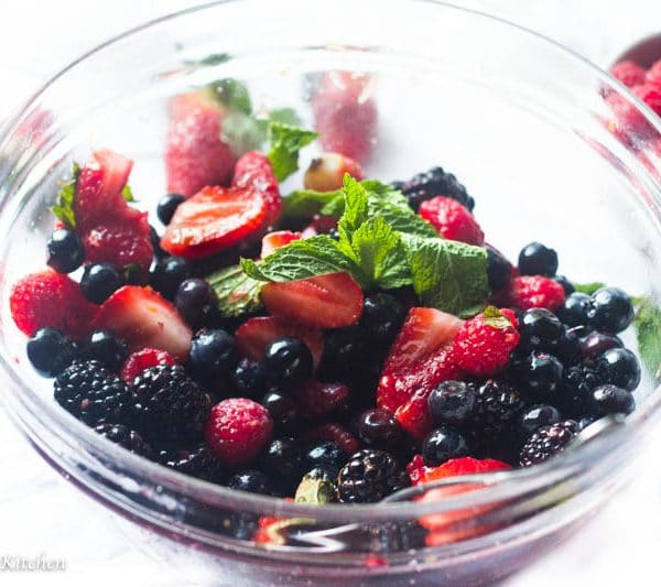 This Macerated Summer Berry Salad is the ultimate dessert for the summer! Perfectly sweet and light it is the ideal accompaniment to any summer BBQ or picnic! Plus learn the trick to incredibly juicy and aromatic berries even when they are not ripe!