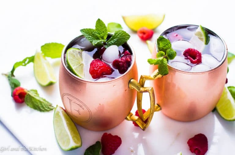 Meet a fruity and refreshing twist on the classic Moscow Mule cocktail! Full of raspberries and fresh mint this cocktail will be the ultimate go to for all your summer BBQ's!