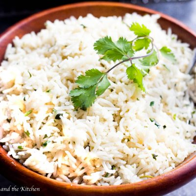 With this ridiculously easy method I will teach you how to cook basmati rice perfectly each time without each rice grain sticking together! This particular basmati rice is loaded with cilantro and garlic flavors that goes perfectly as any side dish or even as a main entree!