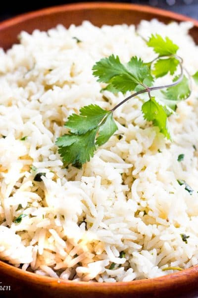 How to Cook Basmati Rice (Cilantro Garlic Rice)